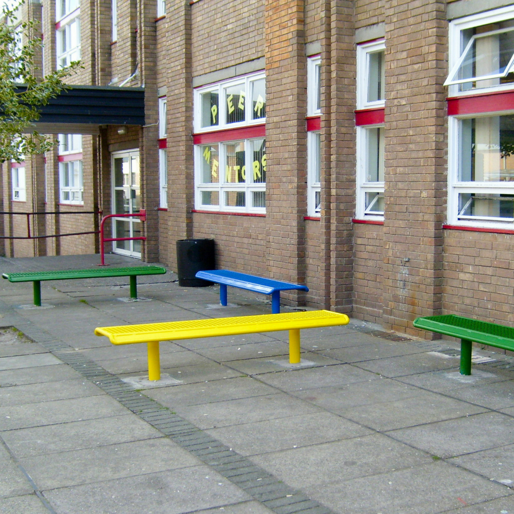 Steel Grated Bench Single Colour 3M