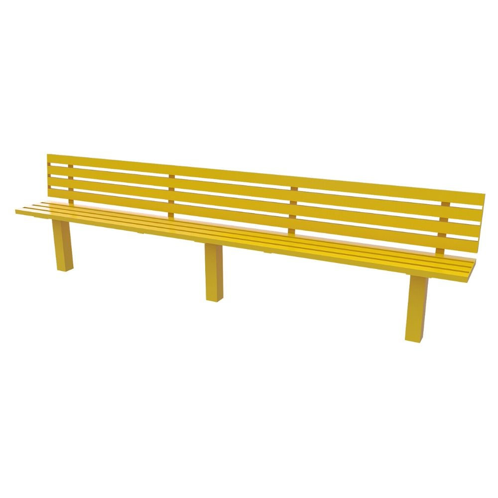Steel Slatted Seat Single Colour 3M