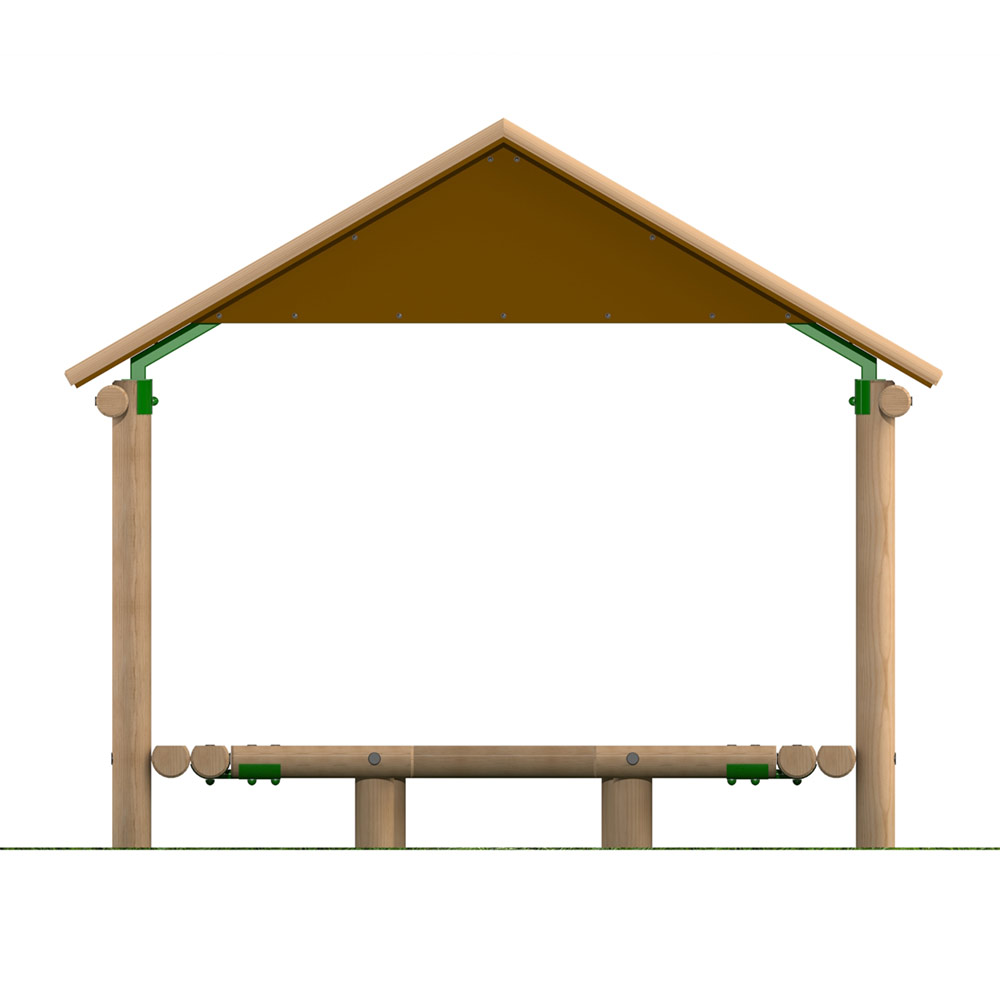 3m x 2.4m Timber Shelter with Seating