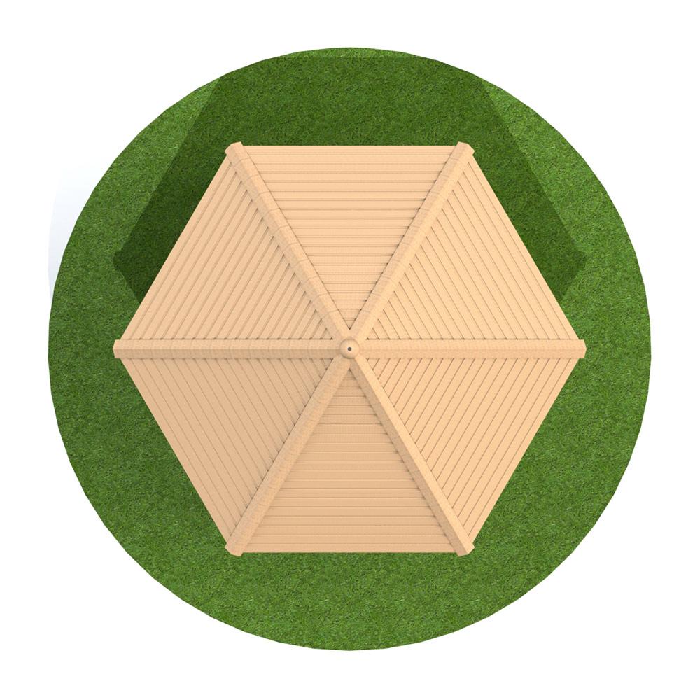 4m Hexagonal Timber Shelter