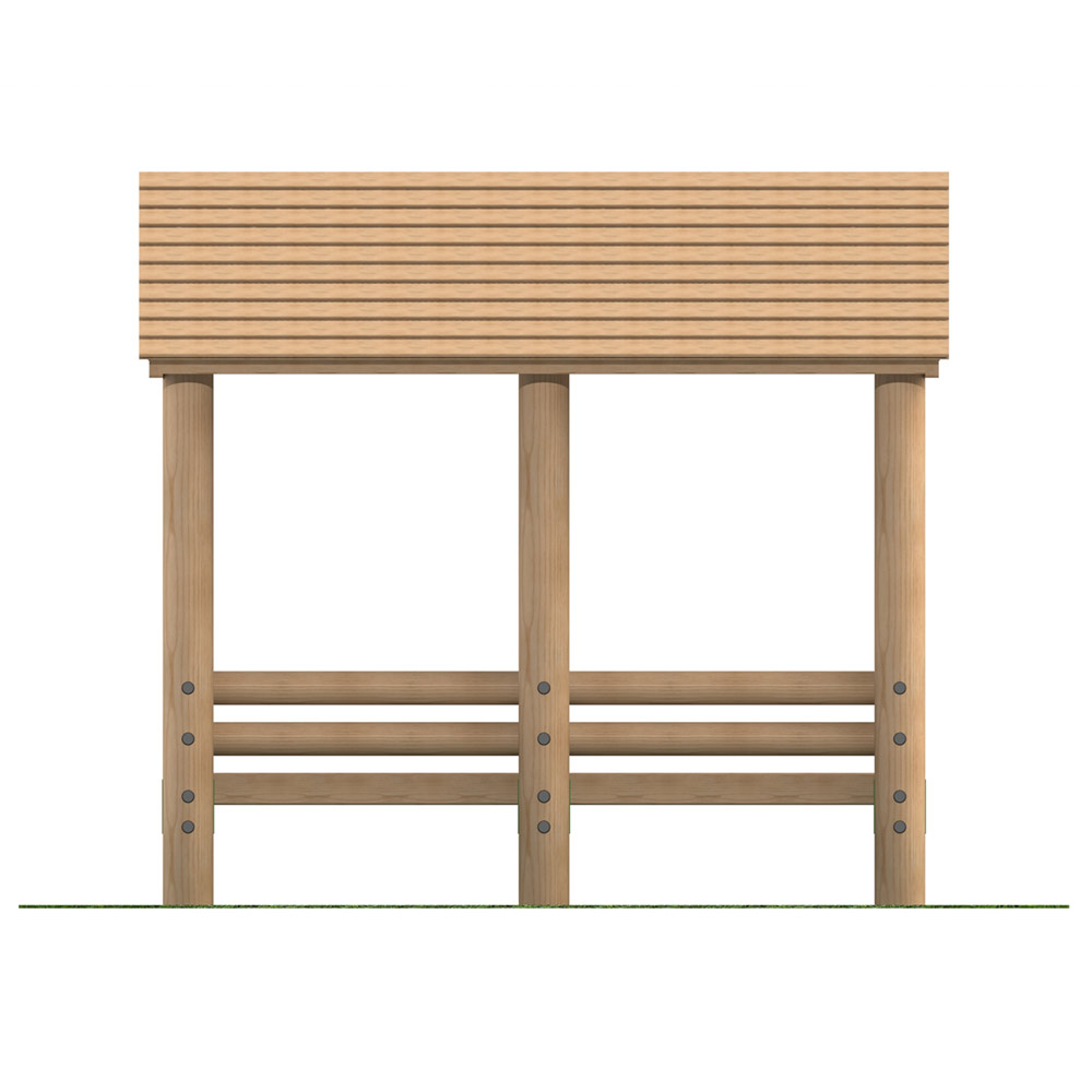 Timber Seating Shelter with Benches