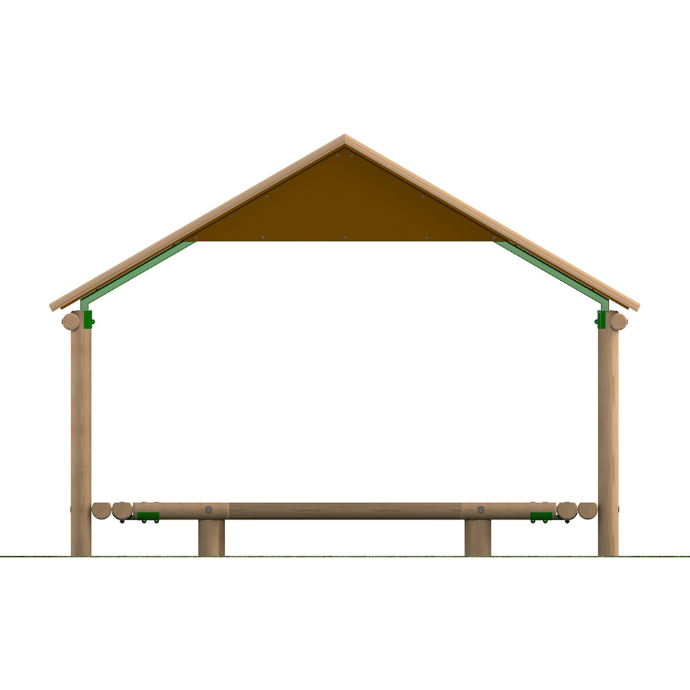 4m Timber Shelter with Seating