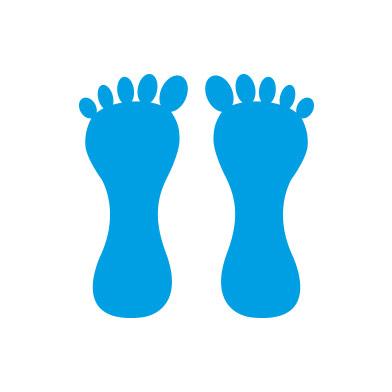 Footprints (pair)
