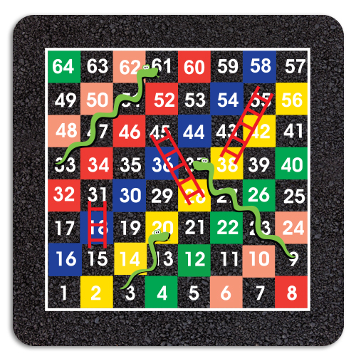 1-64 Snakes & Ladders Half Solid