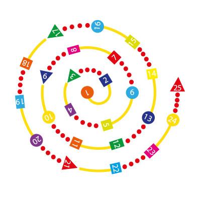 Number 1-25 Spiral