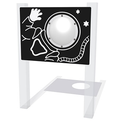 Spaceman Play Panel with Clear Dome
