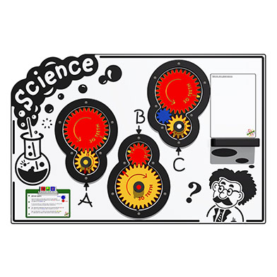 Scientific Gears Play Panel