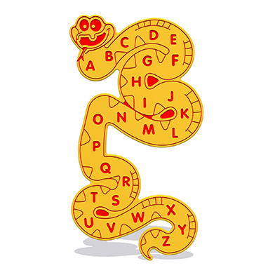 Alphabet Snake Wall Play Panel 12mm TC