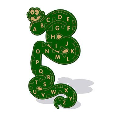 Alphabet Snake Wall Play Panel 19mm TC