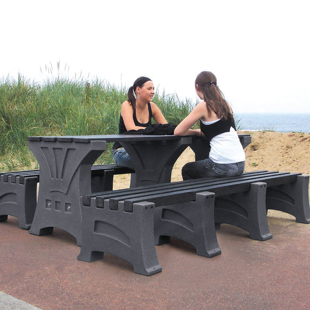Table and 2 x Four Person Bench