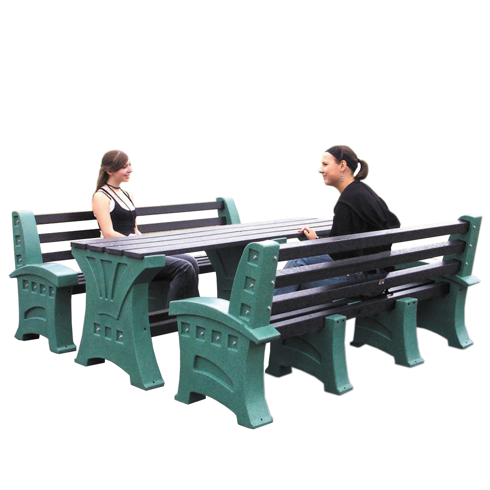 Table and 2 x Four Person Seat