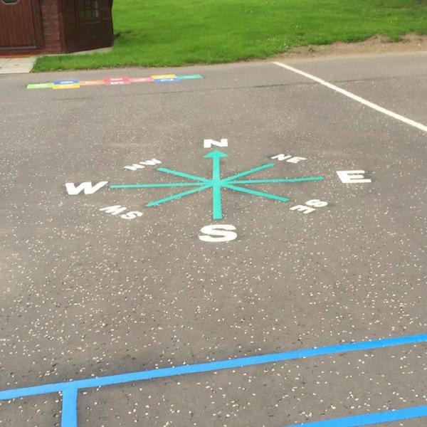 8 Pt Line Compass