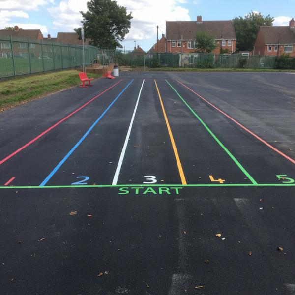 4 Lane Sprint Track