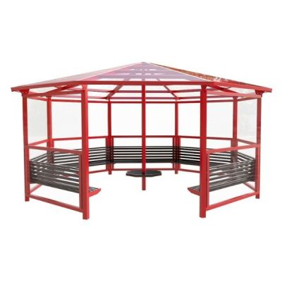 8 Sided Shelter with 7 Seats and Side Panels