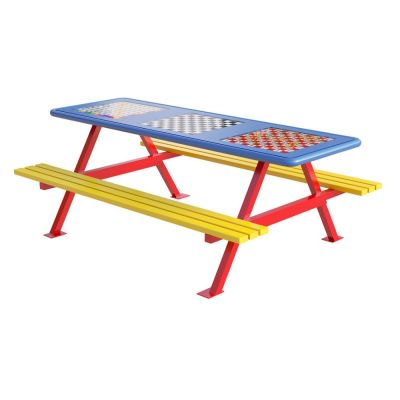 Junior Picnic Bench with Games Top