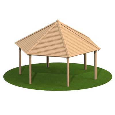 5m Hexagonal Timber Shelter