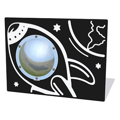 Space Rocket Play Panel with Mirrored Dome