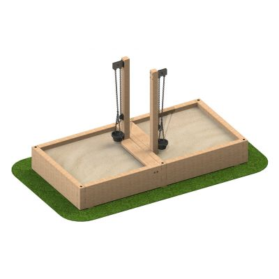 Sandpit with Sand Cranes