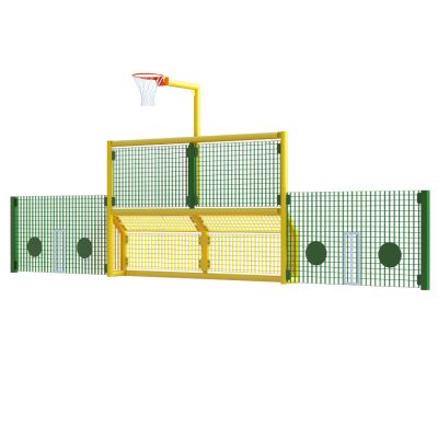 Junior 5 a side recess goal with netball and 1m high side panels