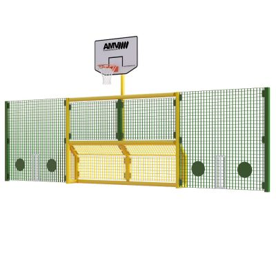 Junior 5 a side recess goal with basketball and 2m high side panels