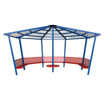 5 Sided Shelter with Seating