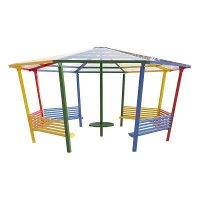 8 Sided Shelter with Seating