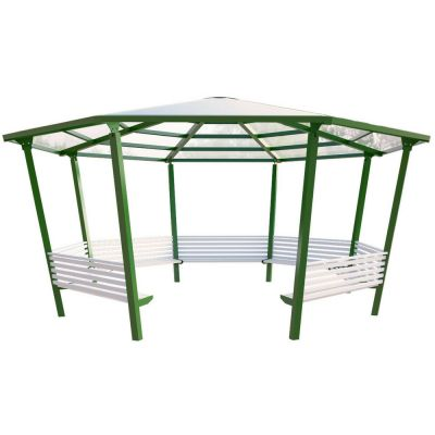 8 Sided Shelter with 7 Seats
