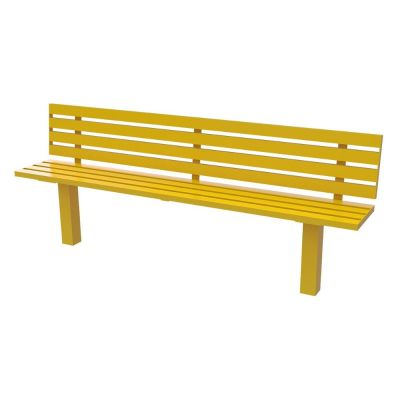 Steel Slatted Seat Single Colour 2M