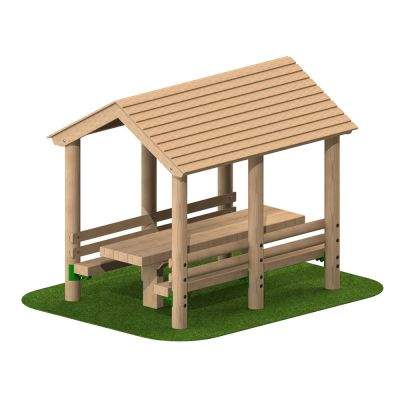 Timber Seating Shelter with Table