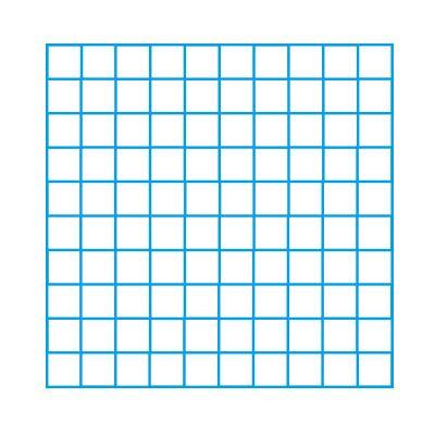 10 x 10 Blank Grid Single Colour