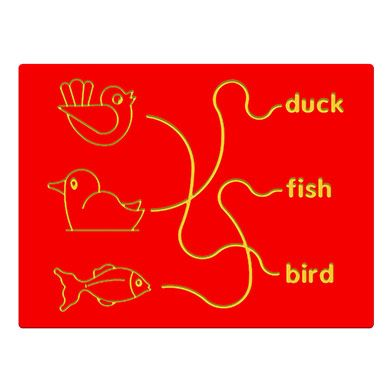 Bird, Duck & Fish Trace Play Panel