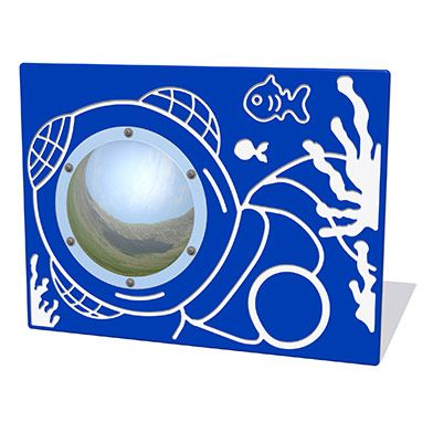Underwater Diver Play Panel with Mirrored Dome