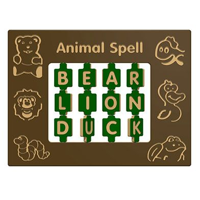 Animal Spelling Play Panel