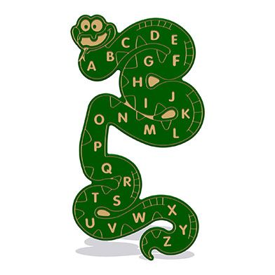 Alphabet Snake Wall Play Panel 19mm TC