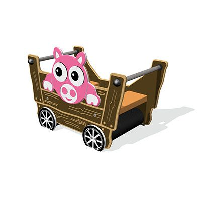Tractor Trailer with Pig