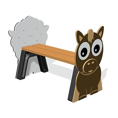 Farm Animal Bench 1m (various animal ends)