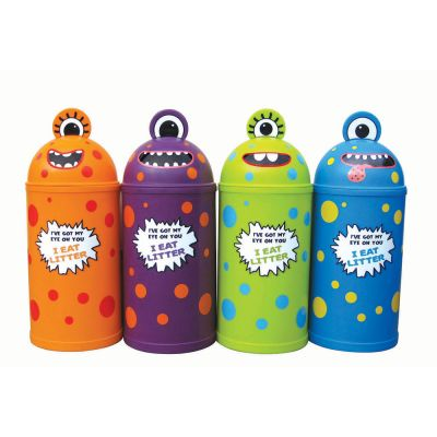 Small Monster Litter Bin - Set of Four