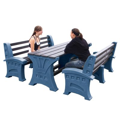 Table and 2 x Three Person Seat