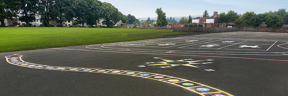 Playground Markings | Mold, North Wales