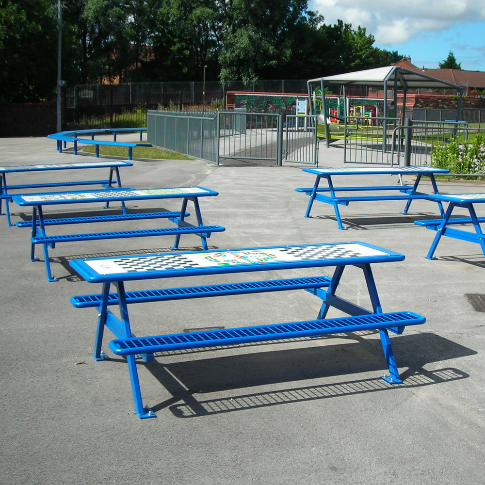 Senior Picnic Bench with Games Top