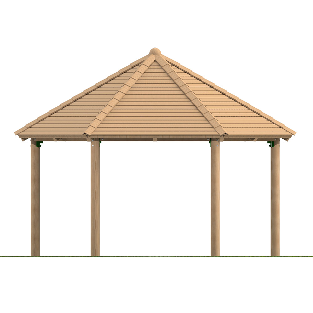4m Hexagonal Timber Shelter