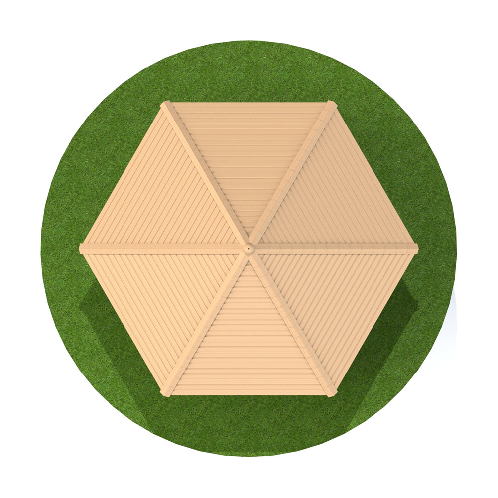 5m Hexagonal Timber Shelter