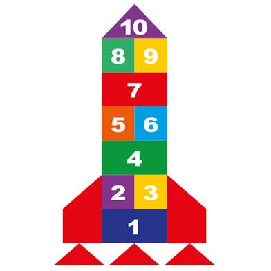 Rocket Hopscotch 400 (using 400mm squares)