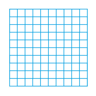 10 x 10 blank grid single colour playground markings