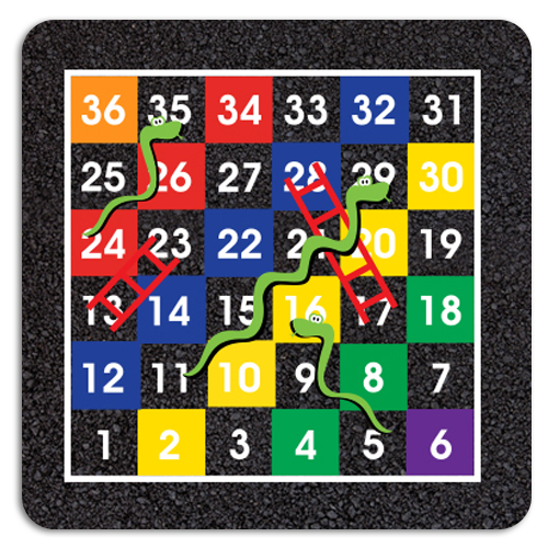 1-36 Snakes & Ladders Half Solid