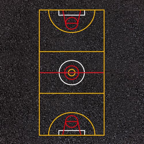 Multi Court Netball Football Basketball Playground Markings
