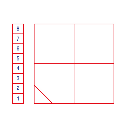 Games Square Grid with 1-8 Ladder