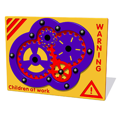 Children at Work Cog Play Panel