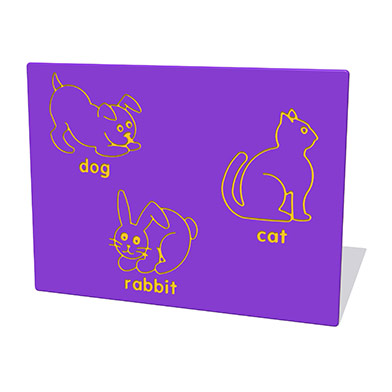 Dog, Cat & Rabbit Play Panel