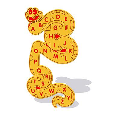 Alphabet Snake Wall Play Panel 12mm TC